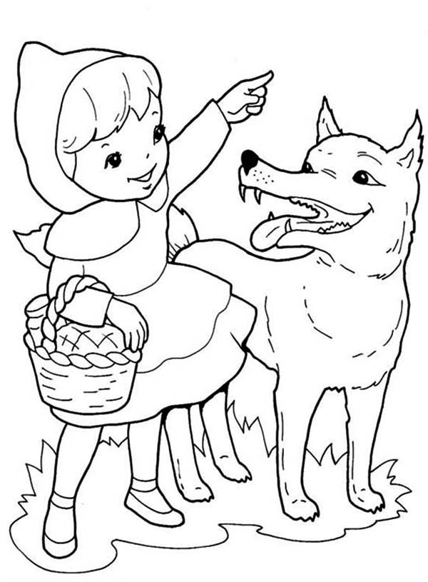 600x815 Red Riding Hood Asking Direction To Wolf Coloring Pages Batch