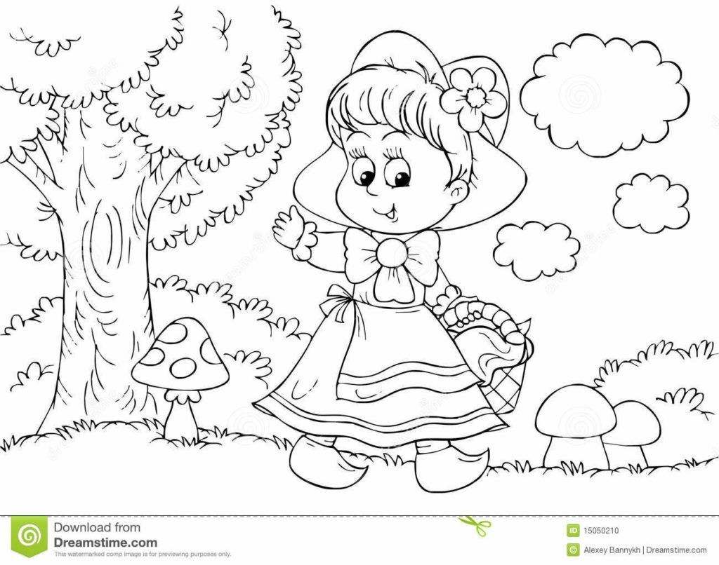 1024x806 The Best Little Red Riding Hood Coloring Kids Pict For Page Ideas