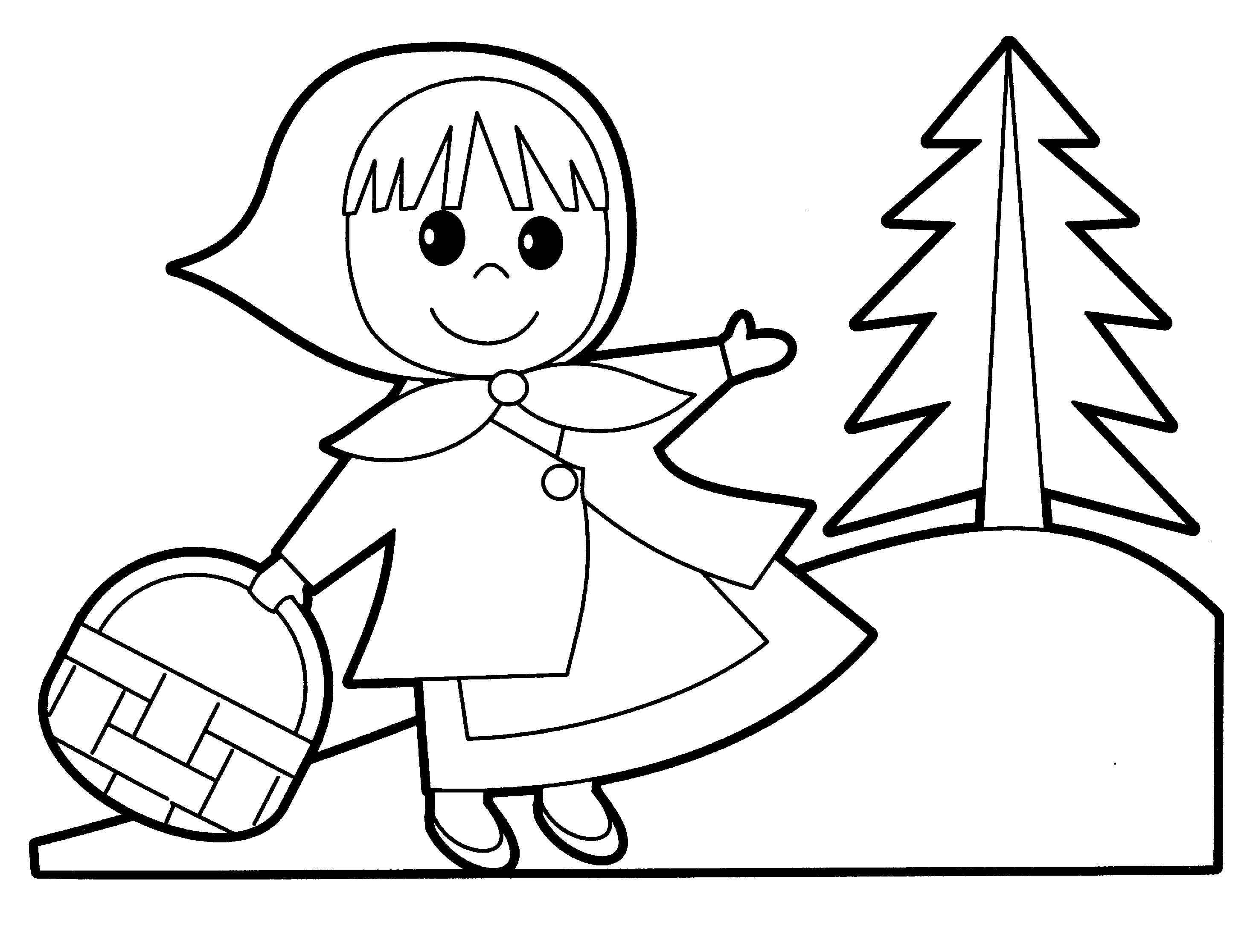 2930x2232 Little Red Riding Hood Coloring Pages