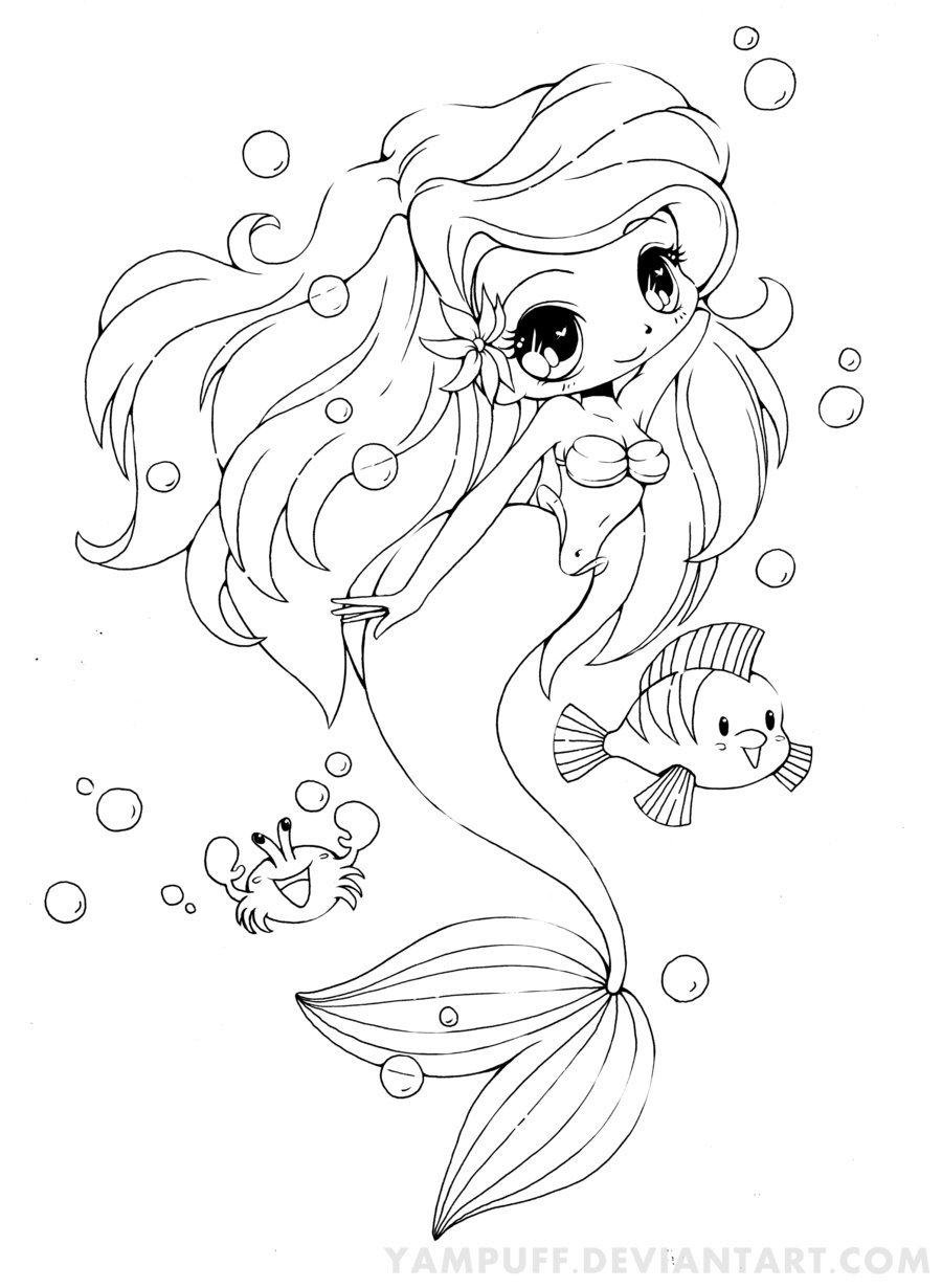 900x1230 Cute Mermaid Coloring Pages Of Mermaids Cute