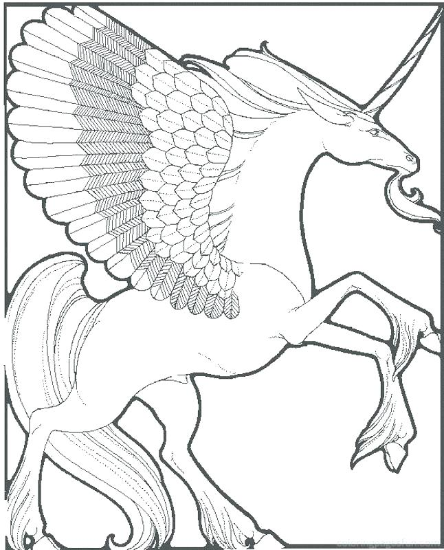 646x800 Realistic Coloring Pages Unicorn Coloring Pages As Well As