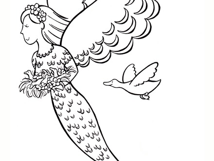 440x330 Adult ~ Printable Realistic Mermaid Coloring Pages, Realistic