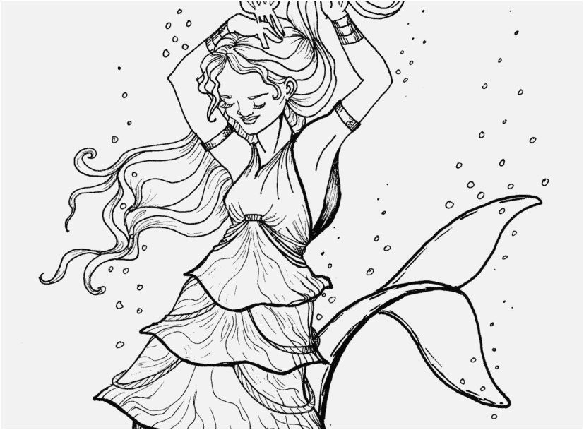 827x609 Realistic Mermaid Coloring Pages Gallery Barbie Mermaid