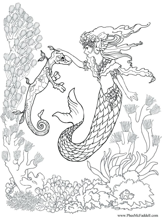 670x900 Realistic Mermaid Coloring Pages Little Mermaid Coloring Pictures