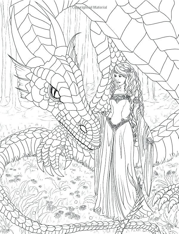 600x783 Swimming Mermaid Coloring Pages For Adults Awesome Or Image Detail