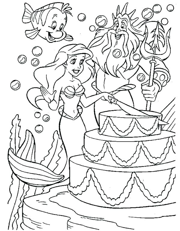 Mermaid Princess Coloring Pages at GetColorings.com | Free printable ...