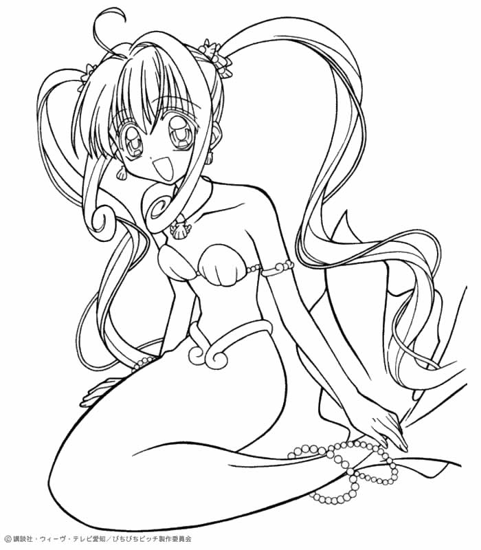 700x800 Luchia The Mermaid Coloring Pages