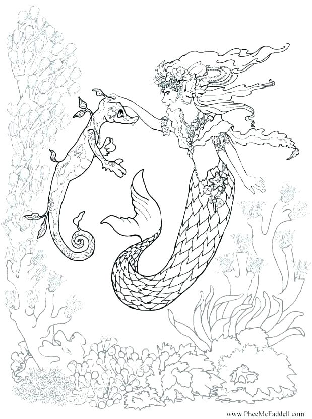 619x832 Mermaid Color Pages Mermaid Coloring Pages Printable Free Mermaid