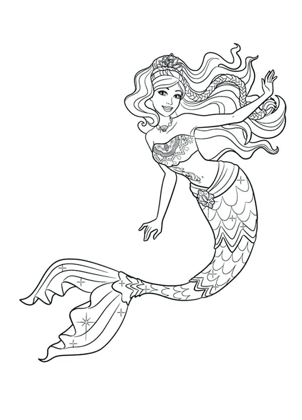 600x834 Mermaid Princess Coloring Pages Mermaid Barbie Mermaid Tale