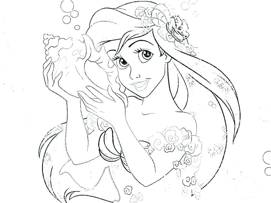 863x647 Mermaid Princess Coloring Pages Princess Coloring Little Mermaid