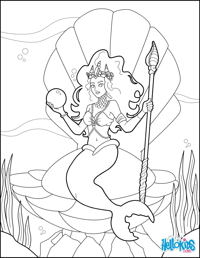 820x1060 Mermaid Princess Coloring Page. More Original And Princess