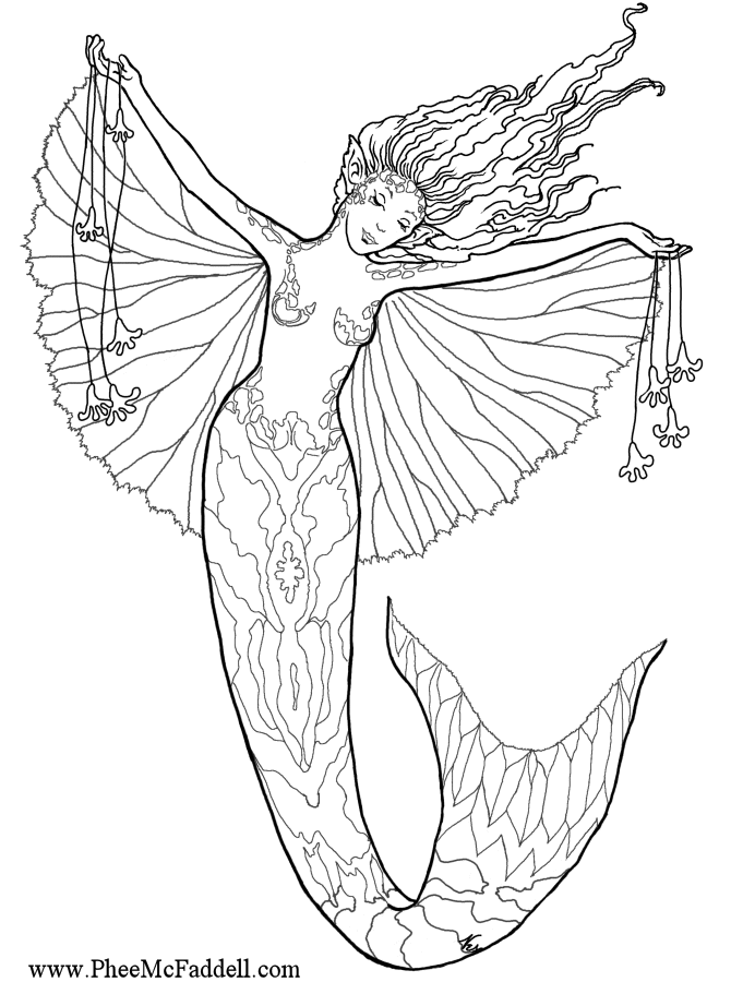 670x900 Mermaid Fairy Coloring Pages Mermaid Princess Fairy Coloring Page