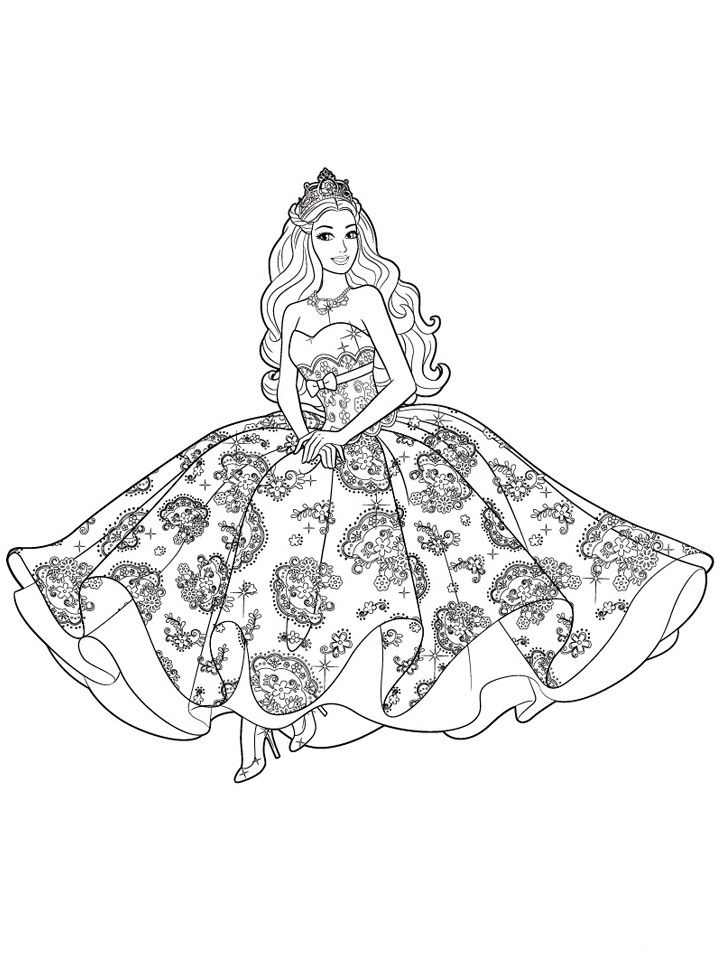 720x962 Barbie Coloring Pages To Print For Free Mermaid, Princess, Dolls