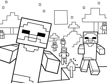 minecraft house coloring pages at getcolorings free