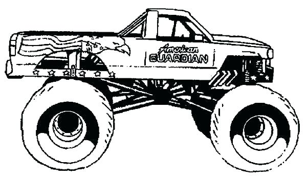 Grave digger monster truck coloring pages at getcolorings for Grave digger monster truck coloring pages