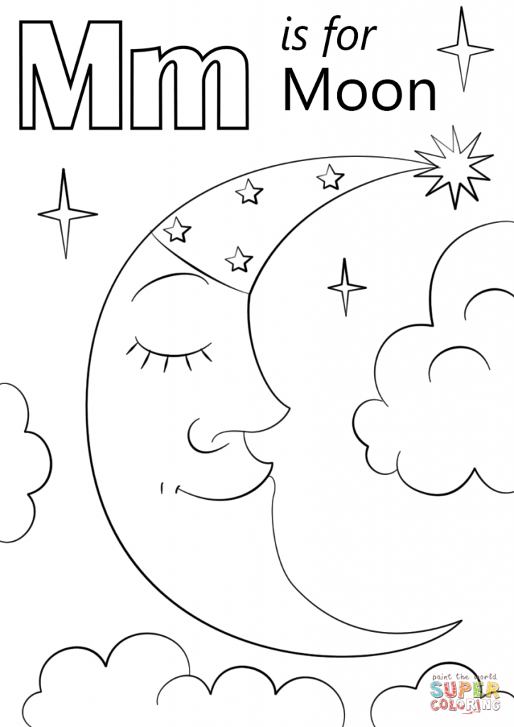 724x1024 Moon Coloring Pages For Preschoolers