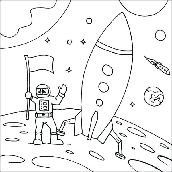 600x600 Moon Coloring Pages For Preschoolers Rocket Ship Coloring Pages