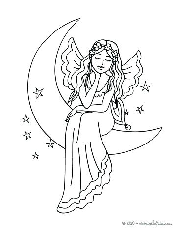 363x470 Moon Coloring Pages Preschool Hello Kids With Friends Fairy