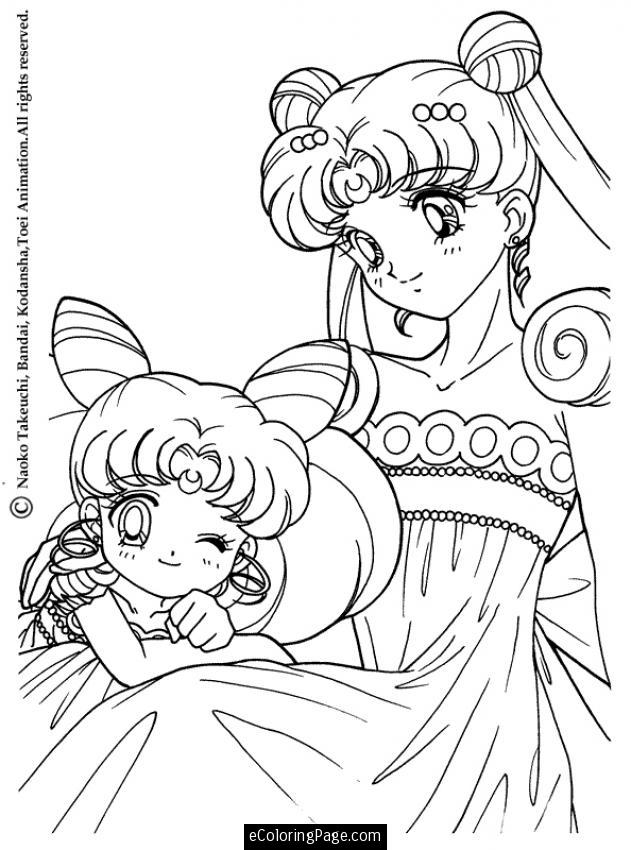 631x850 Anime Sailor Moon Princess Coloring Page For Kids Printable
