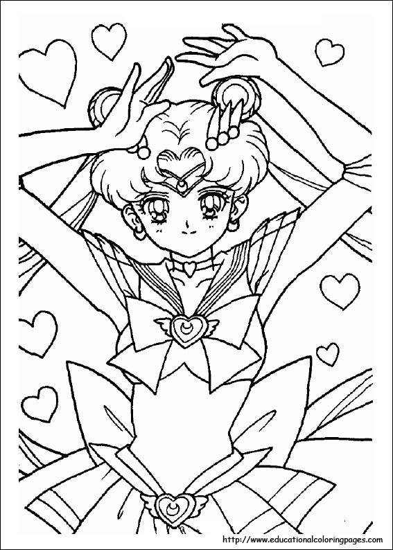 567x794 Sailor Moon Coloring