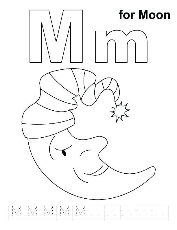 612x792 Letter M Coloring Pages Preschool Vanda