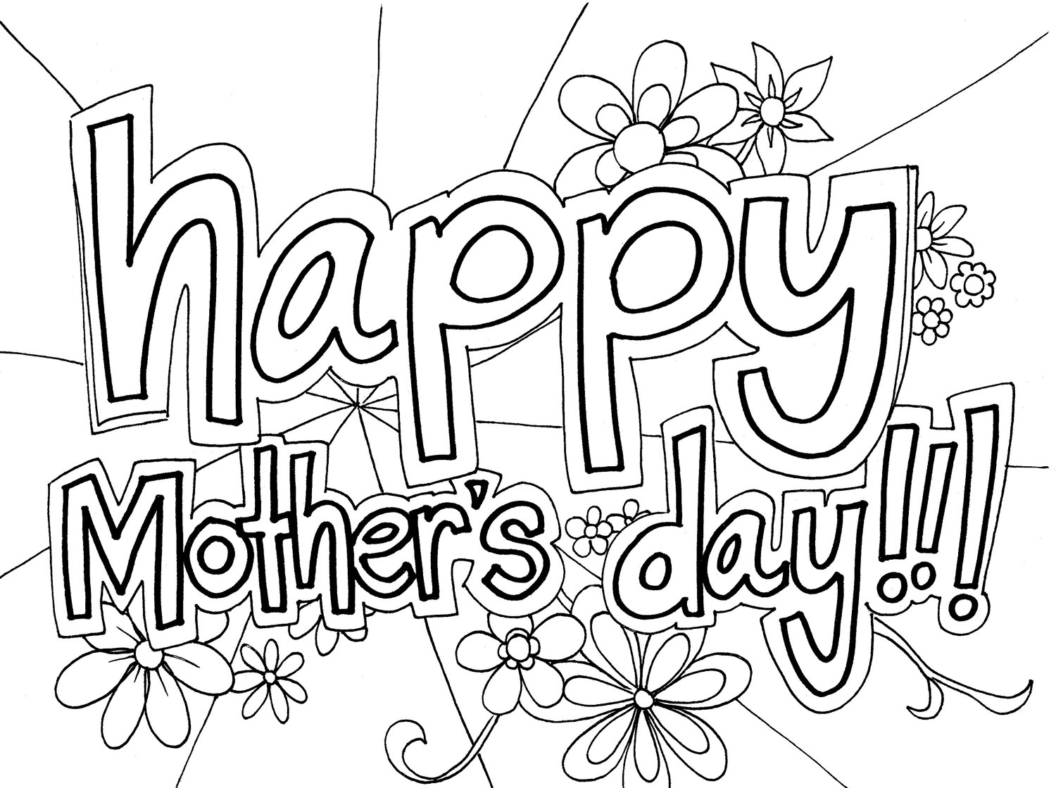 1500x1119 Sweet Ideas Mothers Day Coloring Pages Adult Christian Disney