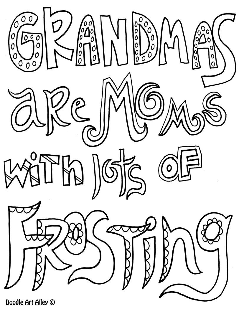 811x1049 Grandmas Are Moms With Lots Of Frosting Coloring Page