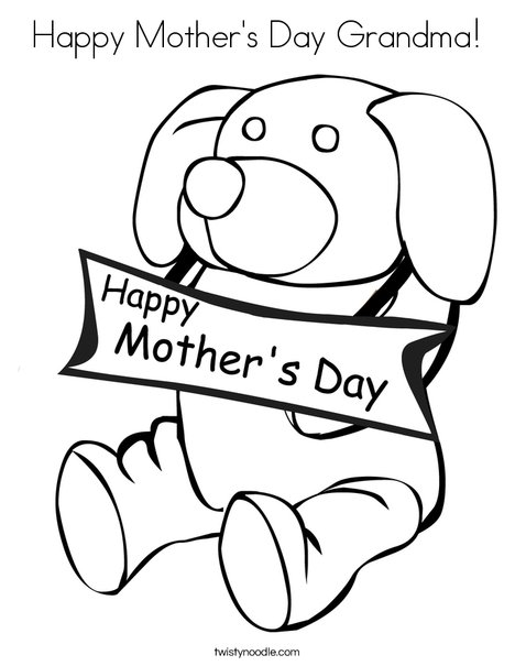 468x605 Happy Mother's Day Grandma Coloring Page