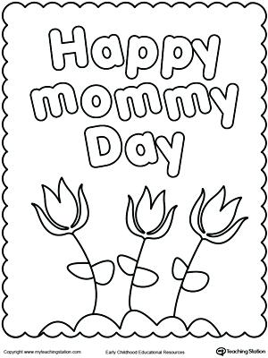 300x400 Happy Mothers Day Coloring Page Mother Day Coloring Pages For Kids