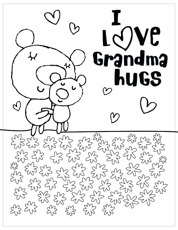612x792 Happy Mothers Day Coloring Pages Grandmother Coloring Pages