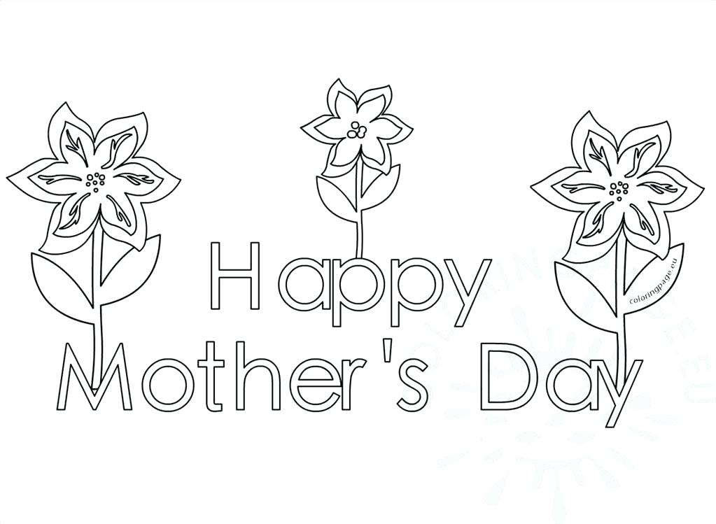 1023x749 Happy Mothers Day Coloring Pages Top Happy Mothers Day Coloring