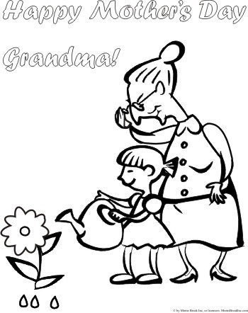 350x442 Blog Direct Open Free Mothers Day Coloring Page For Grandma