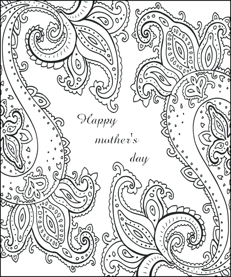 802x960 Mothers Day Coloring Pages Mothers Day Coloring Pages For Adults