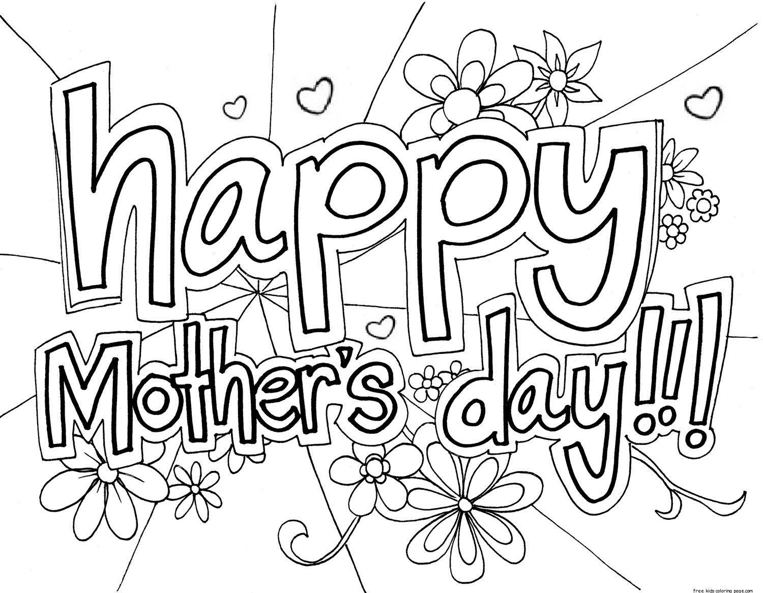 1500x1166 Print Out Happy Mothers Day Grandma Coloring Page For Kidsfree