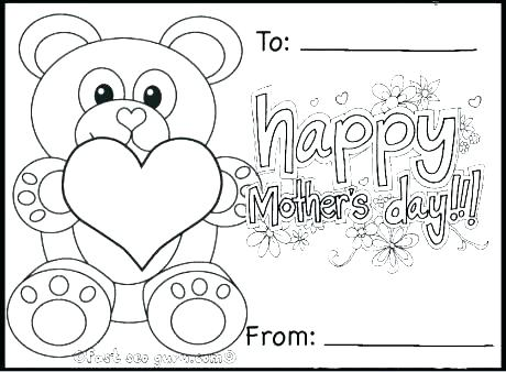 460x338 Coloring Page Mothers Day
