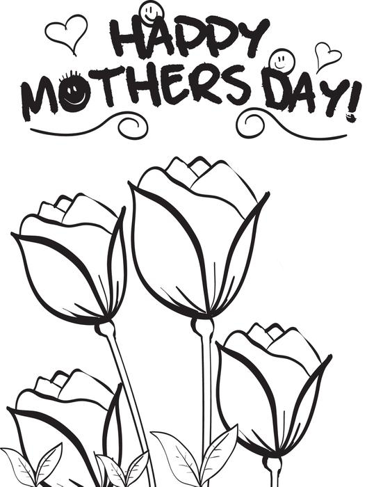 551x700 Free Printable Mothers Day Flowers Coloring Page For Kids 3