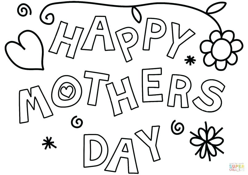 805x569 Coloring Pages For Mothers Day Cards Unique Mother Day Coloring