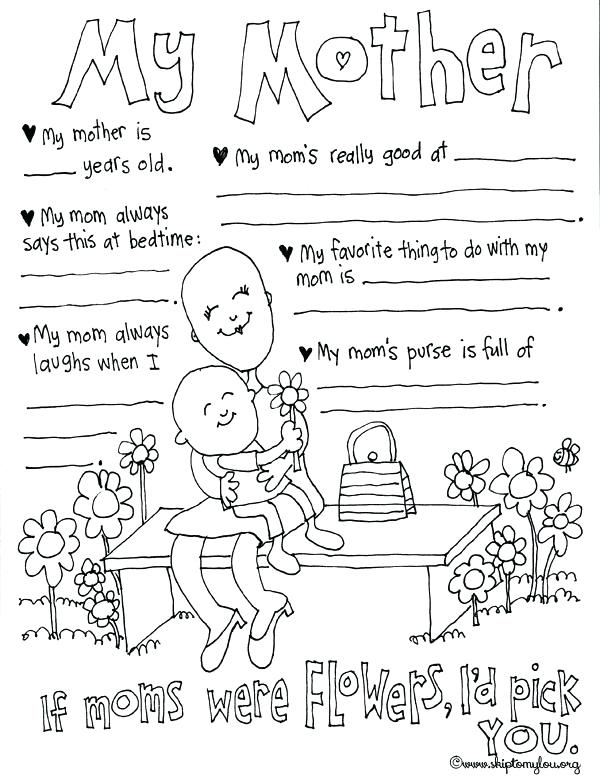 600x777 Grandma Coloring Pages My Mother Mothers Day Coloring Page Family