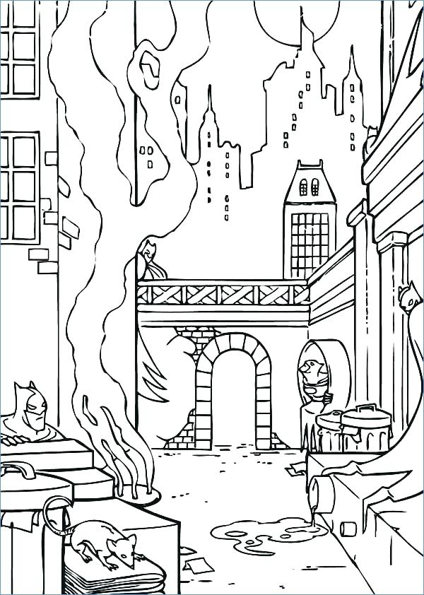 New York Skyline Coloring Page