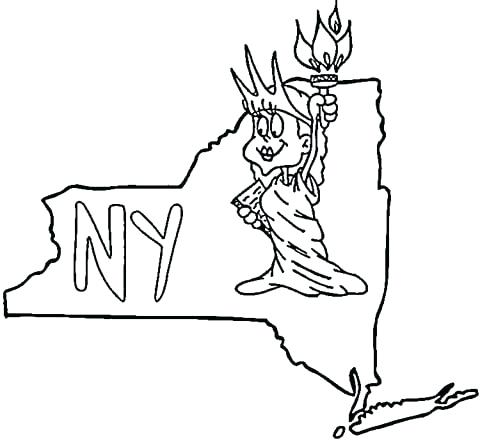 480x440 New York State Flag Coloring Page Click To See Printable Version