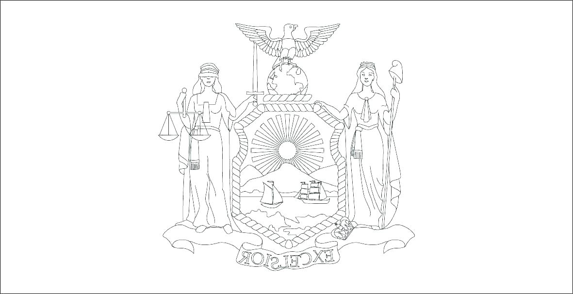 1181x606 New York State Flag Coloring Page New State Flag Coloring Page New
