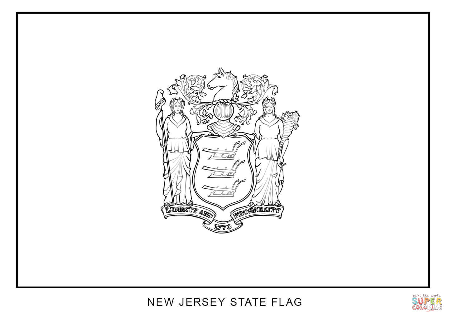 1440x1020 Great New York State Flag Coloring Page 52 For With New York State