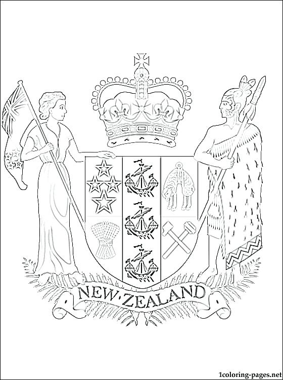 New Zealand Flag Coloring Page At Getcolorings Com Free Printable