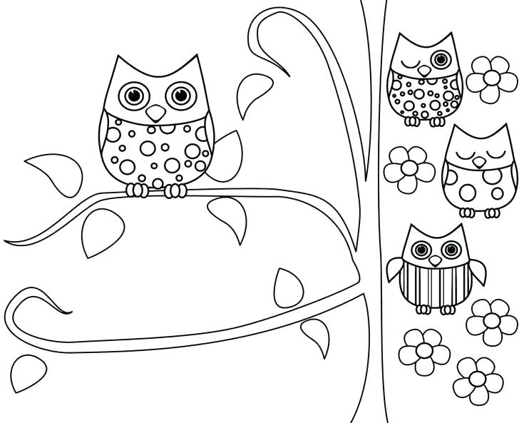 735x593 Owl Coloring Pages To Print
