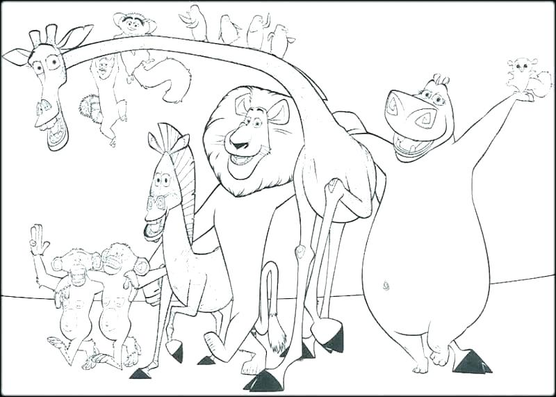 800x571 Madagascar Coloring Pages Penguins Of Coloring Pages Best Free