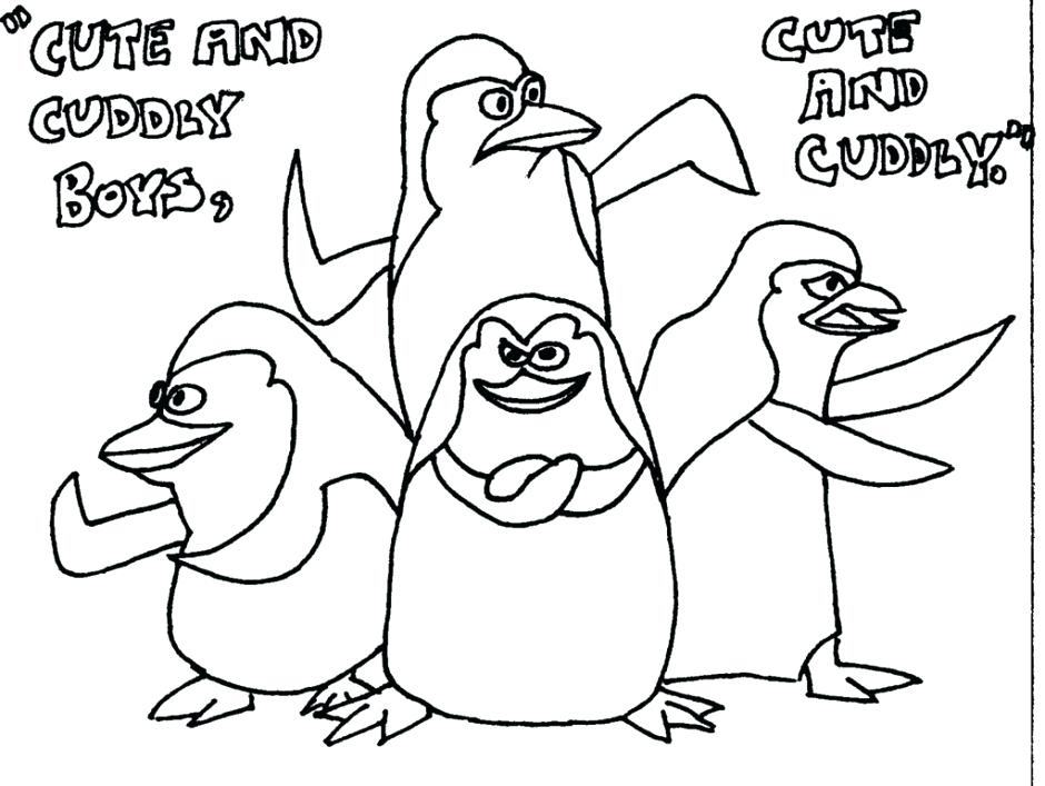 940x707 Madagascar Coloring Pages Penguins Of Coloring Pages To Print