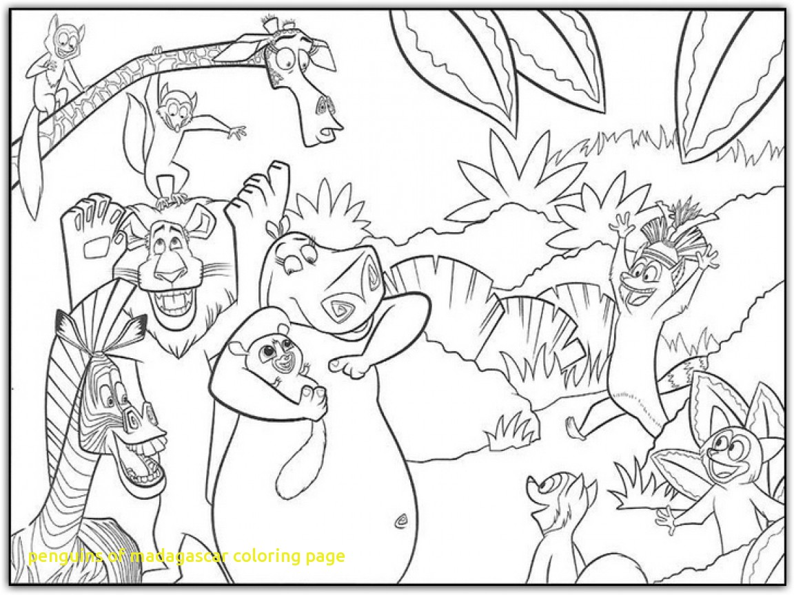 1152x864 Penguins Of Madagascar Coloring Page With Madagascar Coloring