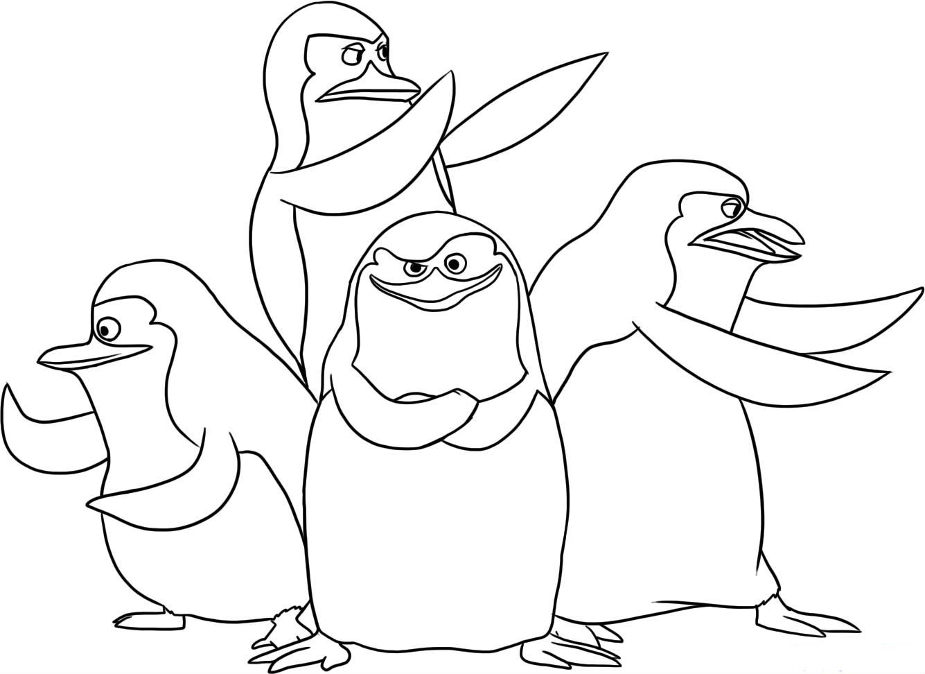 1335x972 29 Penguins Of Madagascar Coloring Pages