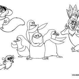 268x268 Coloring Pages Madagascar Penguins Archives