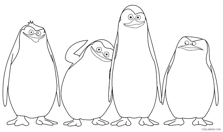 850x504 Coloring Pages Of Penguins Penguins Coloring Penguin Coloring